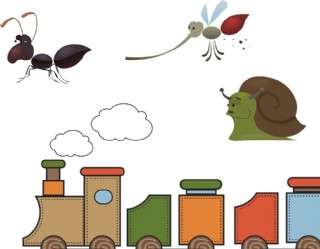 卡通火車玩具