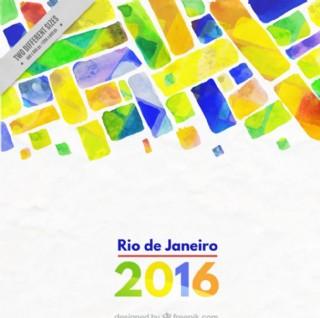水彩里约热内卢奥运会