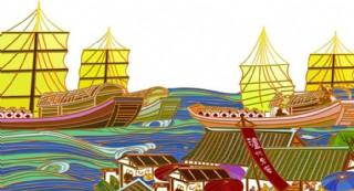 彩色江阳图